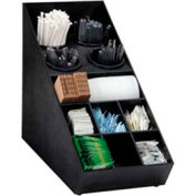 Silverware and Condiment Organizer, (13) compartments, black
