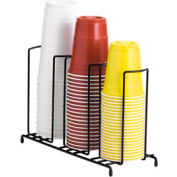 Dispense-Rite® 3 Section Wire Rack Cup and Lid Organizer