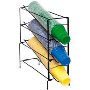Dispense-Rite® 3 Section Vertical Wire Rack Cup Dispenser