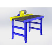 """Omni Metalcraft Chain Driven Live Roller Conveyor, 1.9"""" Dia. Rollers, 1/2 HP - 5'L x 48""""W"""