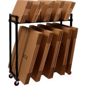 "Dehnco Dual Level Carton Rack w/ Deck & 8 Dividers, 54-1/2""L x 18""W x 52""H, Black & White"