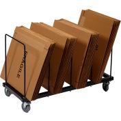 "Dehnco Floor Carton Rack w/ Five 1/2"" Wire Dividers, 44""L x 18""W x 24""H, Black & White"