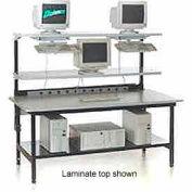 """Testing/LAN Station 68"""" x 33"""", Steel Square Edge"""