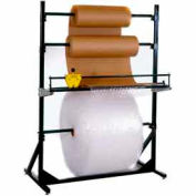 """Dehnco Multiple Roll Stand for 40"""" Material Width, 300 Lbs Capacity, Black & White"""