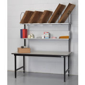 "Dehnco Basic Packing Workbench, Laminate T-Mold Edge, 68""W x 33""D"