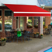 """Awntech DTR12-35-R, Right Motor Retractable Awning 12'W x 10'D x 10""""H Red"""