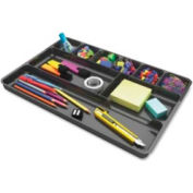 "Deflect-o® Desk Drawer Organizer 14"" x 9"" Black"