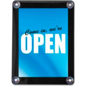 """Deflect-O Double-Sided Window Display Sign 15"""" x 12-5/8"""" Clear"""