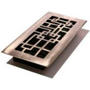 """Décor Grates Bronze Finish Solid Brass Register, Abstract, 2"""" X 12"""" - Pkg Qty 8"""