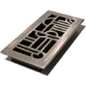 "Décor Grates Nickel Finish Aluminum Register, Art Deco, 4"" X 12"" - Pkg Qty 8"
