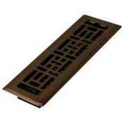 "Décor Grates Bronze Finish Plated Steel Register, 2mm, 4"" X 10"" - Pkg Qty 8"
