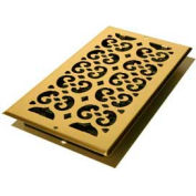 "Décor Grates Plated Brass Return Air Grille, Bright, 6"" X 14"" - Pkg Qty 15"