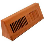"Décor Grates Louvered Oak Base Board, 18"" - Pkg Qty 4"