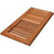 "Décor Grates Wood Louvered Return Air, Natural, 6"" X 12"" - Pkg Qty 15"