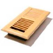 """Décor Grates Wood Louvered Register, Natural Birch, 4"""" X 12"""" - Pkg Qty 8"""