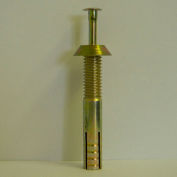 "Tamper-Proof Security Anchor - 1/4 x 2-3/8"" - Reversible Head - Carbon Steel - Yellow Zinc - 100 Pk"