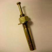 """Center Pin Drive Anchor - 5/16 x 4"""" - Steel - Yellow Zinc - USA - Pkg of 100"""