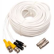 Q-See® 100 ft. Video and Power BNC Male Cable with 2 Female Connectors