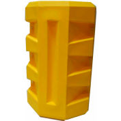 "Poly Structural Column Protector, 8-1/4"" Square Opening, Yellow"