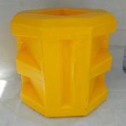 "Poly Structural Short Column Protector, 6-1/4"" Square Opening, Yellow, CPSH-6-14"