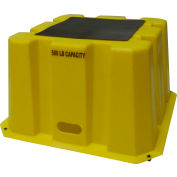 """1 Step Tall Nestable Plastic Step Stand - Yellow 25""""W x 25""""D x 14-3/4""""H - NBST-1-14"""