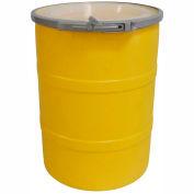 DPI™ - Diversified Plastics Inc. 15 Gallon Open Head Polyethylene Drum OH-15-14 - Yellow