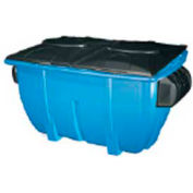Diversified Plastics 2 Yard Front Loading Recycling Dumpster, Blue - WRC2-13W