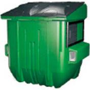 Diversified Plastics 6 Yard Front Loading Dumpster, Green - WRC6-05W