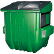 Diversified Plastics 6 Yard Front Loading Dumpster, Gray - WRC6-07W