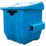 Diversified Plastics 6 Yard Front Loading Recycling Dumpster, Blue - WRC6-13W