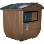 Diversified Plastics 8 Yard Front Loading Dumpster, Brown - WRC8-02W