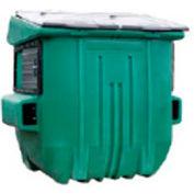 Diversified Plastics 8 Yard Front Loading Dumpster, Green - WRC8-05W