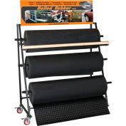 3 Roll Mat Rack W/Cutter