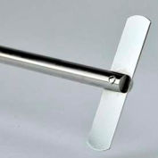 SCILOGEX Straight Stirrer 18900072, 316L Stainless Steel, Use with OS20/OS40 Overhead Stirrers
