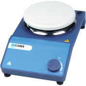 SCILOGEX MS-S Circular-Top Analog Magnetic Stirrer with Ceramic Plate, 81111112, 110V, 50/60Hz