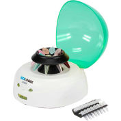 SCILOGEX D1008 EZee Mini-Centrifuge, 8-Place 1.5/2.0ml Microtube Rotor and PCR Rotor, Green
