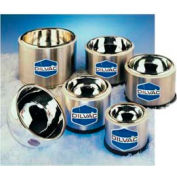"SCILOGEX DILVAC Stainless Steel Cased Low Profile Dewar Flask SS100SH, 0.38L Capacity, 5.2"" Diameter"