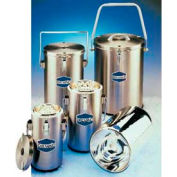 SCILOGEX DILVAC Stainless Steel Cased Dewar with Lid & Handle SS333, 4.5L Capacity