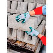 SHOWA Best Glove Size 7 Atlas Fit 350 General Purpose Dark Green Flat Dipped Nitrile Palm - Pkg Qty 8