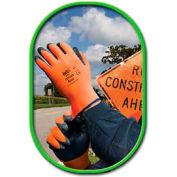 SHOWA Best Glove Size 7 Zorb-IT HV General Purpose Gray Flat-Dipped Sponge Nitrile Palm - Pkg Qty 4