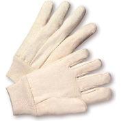 Radnor® Men's White 12 Ounce 100% Cotton Canvas Gloves With Knitwrist - Pkg Qty 16