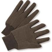 Radnor® Ladies Brown 10 Ounce Premium 100% Cotton Jersey Gloves With Knitwrist - Pkg Qty 16