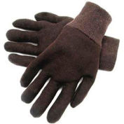 Radnor® Ladies Brown 9 Ounce Reversible Cotton/Polyester Blend Jersey Gloves With Knitwrist - Pkg Qty 32