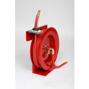 "Duro 1201 Air/Water Heavy Duty Retractable Spring Hose Reel, 21"" x 7"" x 20"", 50' Hose, 300PSI"