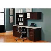 "Desk Workstation 84""W x 24""D x 66""H Mocha Finish"