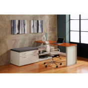 """Lateral Benching Workstation 72""""W x 72""""D x 30""""H Honey Maple Finish"""