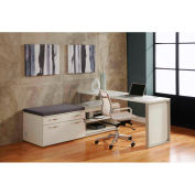 """Lateral Benching Workstation 72""""W x 72""""D x 30""""H White Finish"""