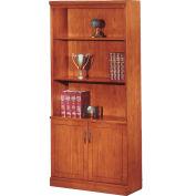 "Belmont Bookcase, 7130-09, 36""W x 15""D x 80""H, Executive Cherry"