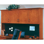"Belmont Overhead Storage W/Full Return Moulding, 7130-63, 74-1/2""W x 15""D x 50""H, Executive Cherry"