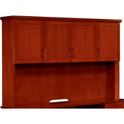 "Belmont Overhead Storage W/Full Return Moulding, 7130-64, 72""W x 15""D x 50""H, Executive Cherry"
